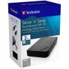 Verbatim Store 'n' Save Desktop Hard Drive USB 3.0 2TB Black