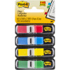 POST-IT MINI FLAGS 683-4 Primary 11.9mm x 43.7mm Assorted Pack of 140