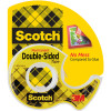 SCOTCH 136 DOUBLE SIDED TAPE 12.7mmx6.3m & Dispenser Roll