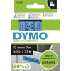 Dymo D1 Label Cassette Tape 12mmx7m Black on Blue