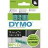 DYMO D1 LABEL CASSETTE TAPE 12mm x 7m Black on Green
