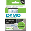 Dymo D1 Label Cassette Tape 12mmx7m Blue on White