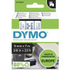 Dymo D1 Label Cassette Tape 9mmx7m Blue on White