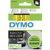 Dymo D1 Label Cassette Tape 9mmx7m Black on Yellow