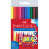 FABER-CASTELL GRIP TRIANGULAR Markers Assorted Colours Pack of 10