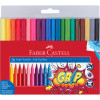 FABER-CASTELL GRIP TRIANGULAR Markers Assorted Colours Pack of 20