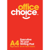 OFFICE CHOICE EXECUTIVE Writing Pad A4 White Pack of 10