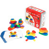 Edx Education Rainbow Pebbles In A Plastic Container