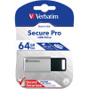 VERBATIM STORE 'N' GO USB Encrypted 64GB Silver