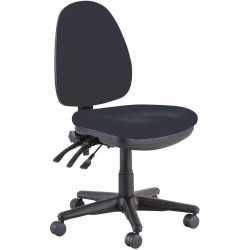 Buro Verve High Back Task Chair No Arms Black Fabric Seat and Back