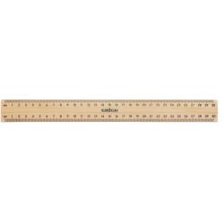 POLISHED METAL EDGE RULER 30cm Ruler