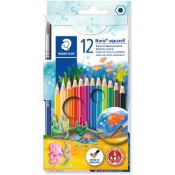 NORIS PENCILS AQUARELL Watercolour Assorted Pack of 12