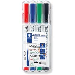 STAEDTLER 341 LUMOCOLOUR Whiteboard Marker Universal Tip 4 Assorted