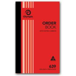 OLYMPIC CARBON BOOK 639 Triplicate 200mm x 125mm Order 100 Leaf