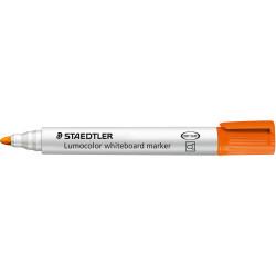 Staedtler 351 Lumocolor Whiteboard Marker Bullet 2mm Orange Box of 10