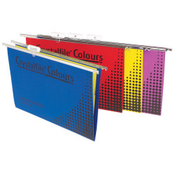 CRYSTALFILE COLOURS SUSP FILES Enviro F/C Complete Assorted Pack of 25