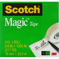 SCOTCH 810-4 MAGIC TAPE Multipack 19mmx25m Pack of 4