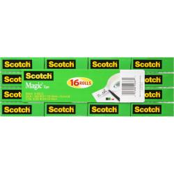 SCOTCH 810-16 MAGIC TAPE Multipack 19mmx25m Pack of 16