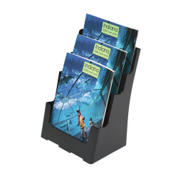 DEFLECT-O BROCHURE HOLDER Sustainable Office 3 Tier - A4