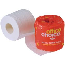 OFFICE CHOICE TOILET ROLLS Premium 2ply Carton of 48