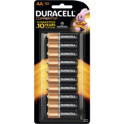 DURACELL COPPERTOP BATTERY AA - Pack of 10