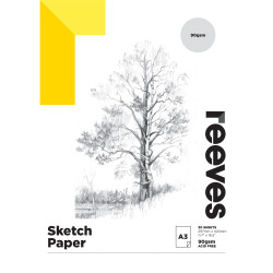 REEVES ARTIST SKETCH PAD A3 90GSM 30 Sheets