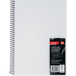 JASART WIRE BOUND VISUAL DIARY A4 Clear Cover