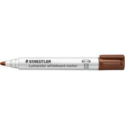 Staedtler 351 Lumocolor Whiteboard Marker Bullet 2mm Brown Box of 10