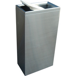 COMPASS STAINLESS STEEL Rectangular Swing Lid Bin 40Litres