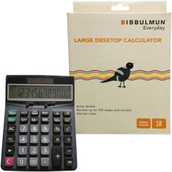 Bibbulmun Desktop Calculator 12 Digit Large